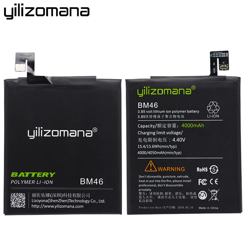 YILIZOMANA For Xiaomi BM46 Battery For Xiaomi Redmi Note 3 Mi Note3 Pro 4000/4050mAh Mobile Phone Batteries Retail Package enlarge