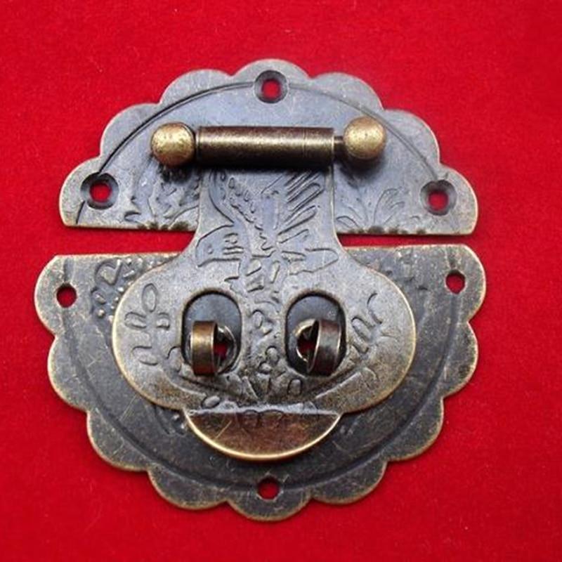 مشبك زهرة من سبائك الزنك البرونزي ، 6 سنتيمتر ، 30 قطعة ، صندوق مجوهرات خشبي