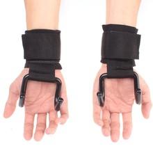 Sangles en acier résistantes réglables de poignée de crochet sangles de levage de soutien de poignet dentraînement de force de levage de poids