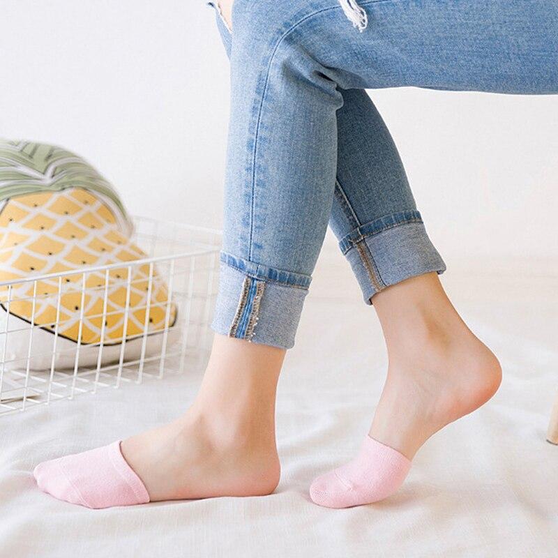 10 шт. = 5 пар однотонных женских Хлопковых Носков, повседневная подкладка для обуви, мягкие невидимые Дышащие носки-лодочки