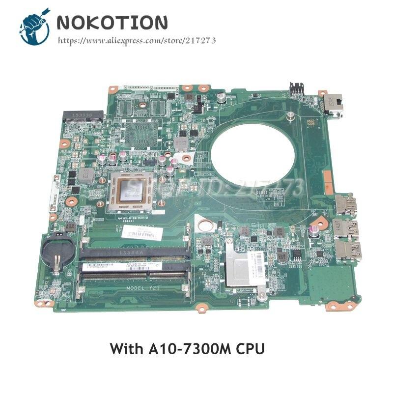 NOKOTION para HP Pavilion 17-P 17Z-P, placa base para portátil, DAY21AMB6D0 809985-601 809985-001 Tablero Principal CPU DDR3 A10-7300M