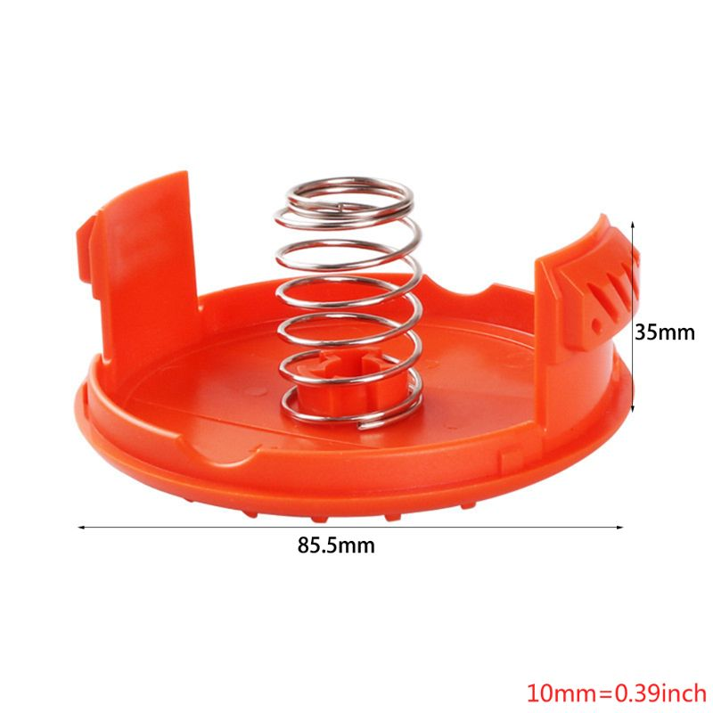 New Trimmer Replacement Spool Cap Covers and Spring for Black-Decker