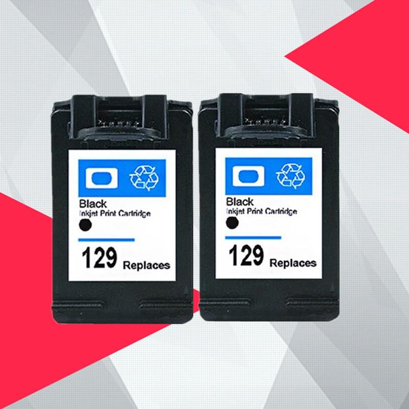 2 BLACK Compatible for HP 129 135 Photosmart C4140 C4150 C4170 C4173 C4175 C4180 C4183 C4188 C4190 ink cartridge for HP129 129XL