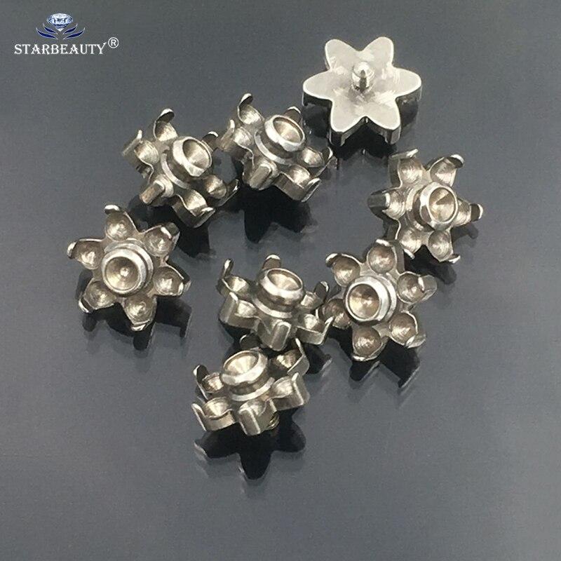 10 pièces mix taille accessoire pièce pour fleur Micro dermique Piercing lèvre Labret barre nez anneau acier boule ventre anneaux Eyrbrow Tragus