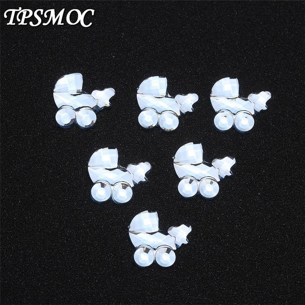 TPSMOC 100pcs/lot Pram style acrylic rhinestones table confetti for party decoration baby shower fav