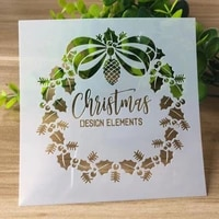 2pc christmas letter painting template diy coloring embossing sjablonen for scrapbooking diary accessories decoration reusable