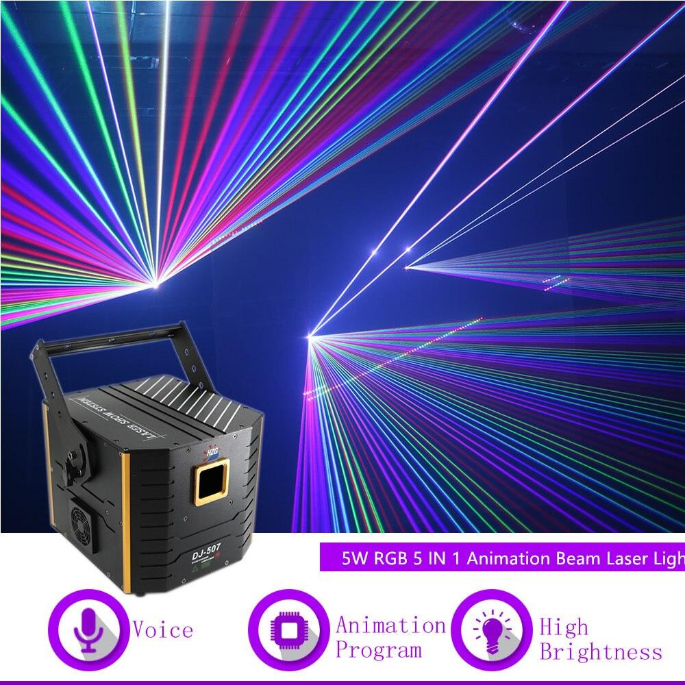 Sharelife 5W DMX 12 CH ILDA 5 في 1 RGB الرسوم المتحركة ليزر العارض ضوء ل DJ حزب ملهى ليلي المهنية مرحلة الإضاءة 507