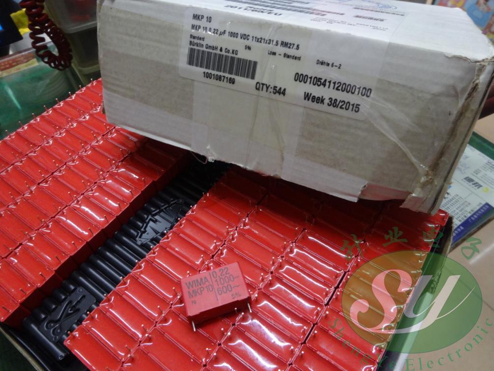 2019 hot sale 10pcs/20pcs WIMA MKP10 0.22uF/1000V 220nf u22 224 new original box MKP10132206B00 Audio capacitor free shipping
