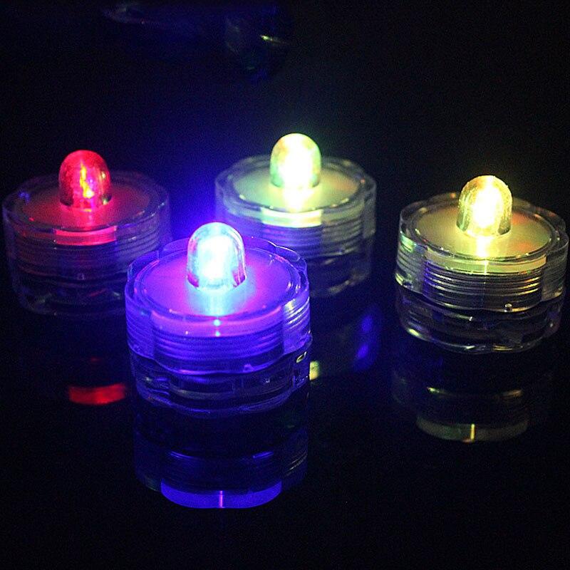 12 шт. мини поворотный переключатель LED водонепроницаемый Свеча Свет Электронный свет для рыбы бар День рождения Свадьба украшения