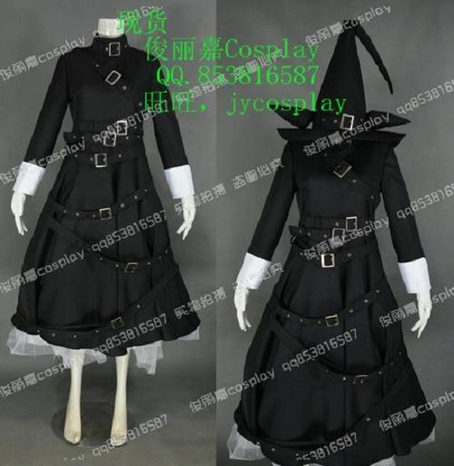 Wadanohara e a grande bruxa mar azul pitch chlomaki vestido roupa anime cosplay traje j001