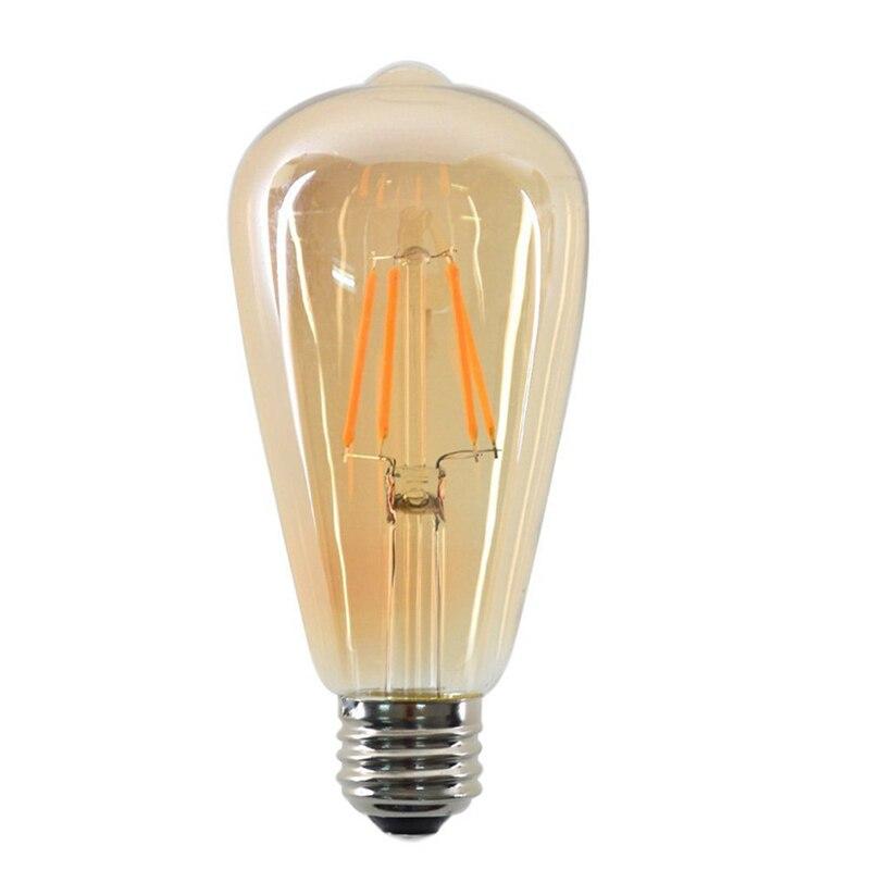 Lâmpada led edison retro de 8w, e27 220v st64, ampola, vintage, edison, filamento incandescente decoração da lâmpada led