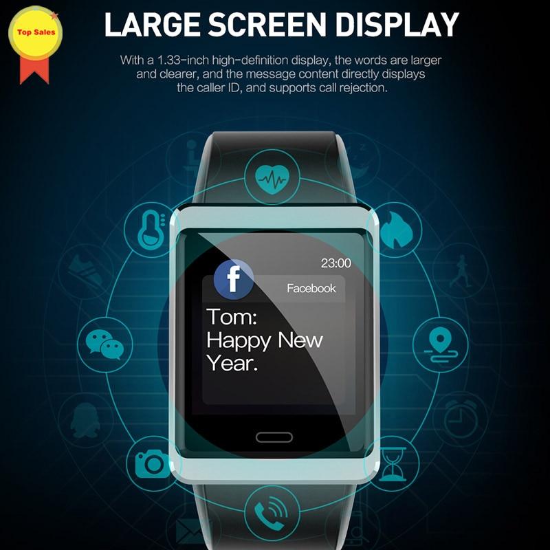 Sensível ao Toque de Exibição de Informações do Sono Monitor de Freqüência Smartver Android Ips Tela Cardíaca Pressão Arterial Esporte Smartveres Ios Bt4.0 1.3