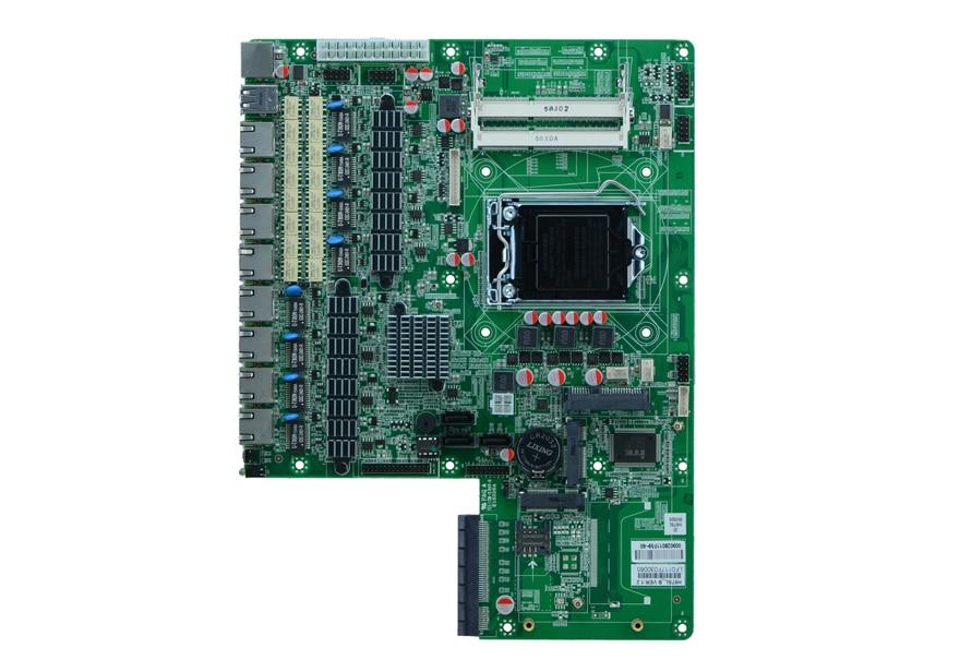H87sl lga 1150 i3/i5/i7 8 lan firewall placa-mãe servidor de rede witn optar