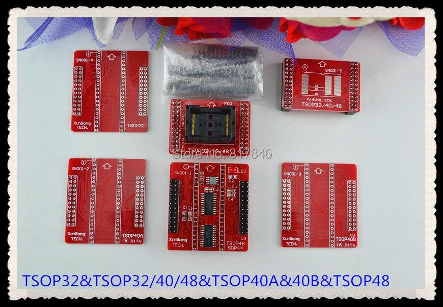 Envío Gratis TSOP32/40/48 adaptador de enchufes TL866A TL866CS programador TSOP32 TSOP40 TSOP48 6 unids/set
