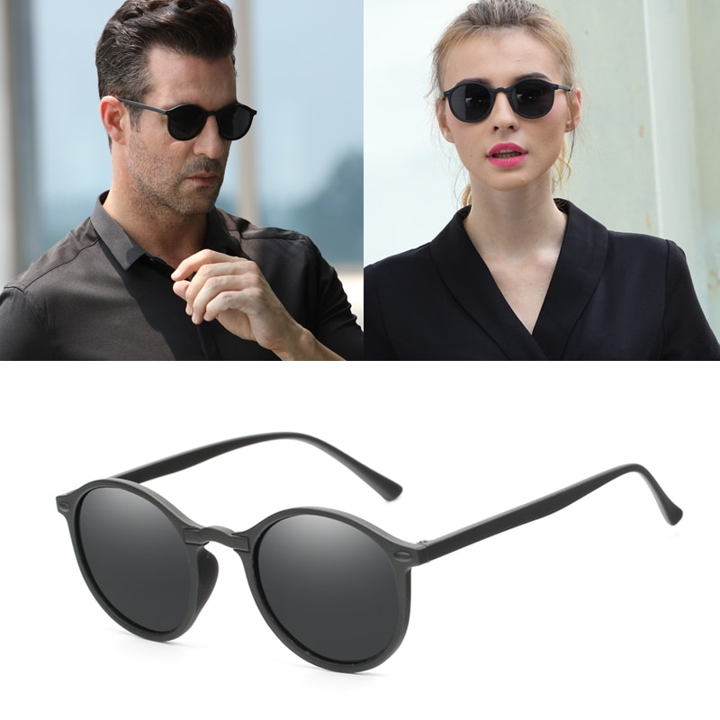 2019 Men Polarized Sunglasses Women Round Brand Design Driving Sun Glasses Male Glasses Eyewear UV400 Shades lentes de sol
