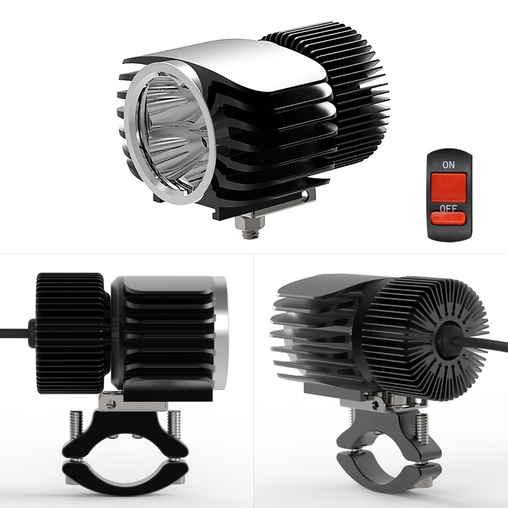 SAARMAT One 18W 15W 10W 6W LED Car External Motorcycle Headlight White DRL Headlamp Spotlight Fog bulb Electric car accessories