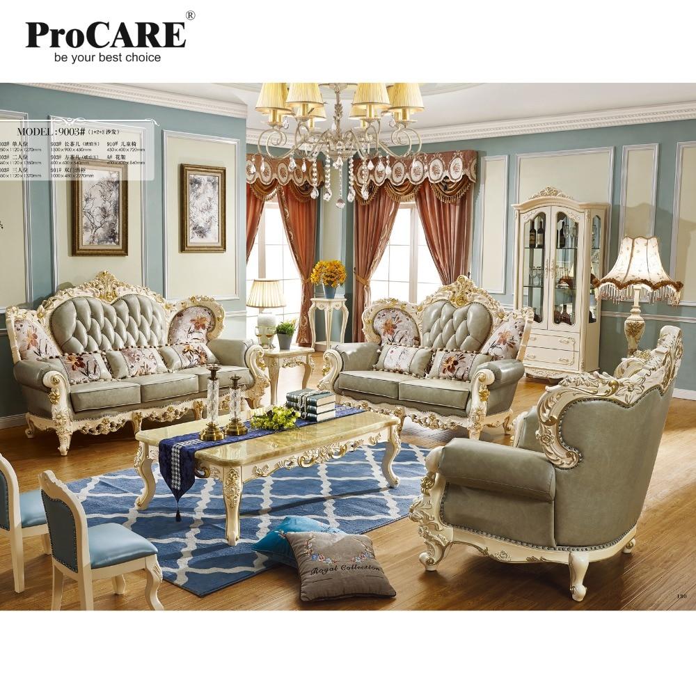 Mobília da sala de estar de estilo Europeu e Americano de luxo qualidade Italia conjunto De sofá de Couro
