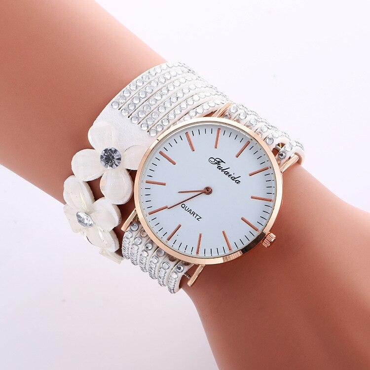 kobiet zegarka 2019 Luxury Crystal Diamond Quartz Watches Women Dress Leather Bracelet   WristWatch