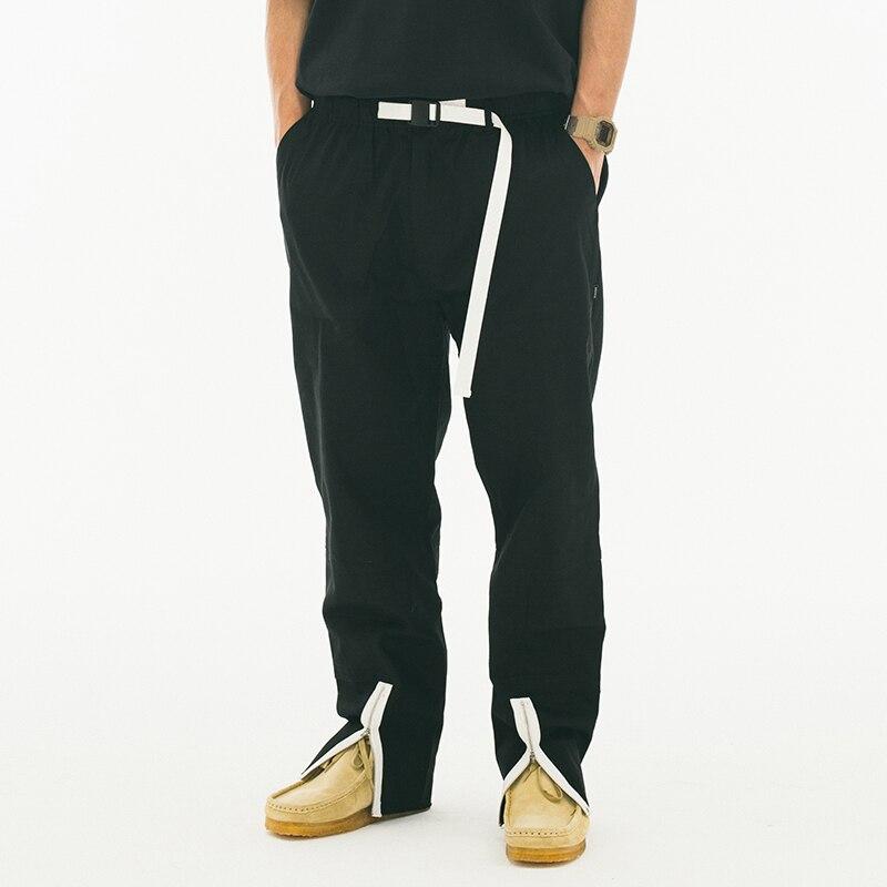 27-44 Nuevo 2018 ropa de hombre GD estilista de pelo moda Catwalk street Zipper Collage casual pantalones overol plus tamaño Disfraces