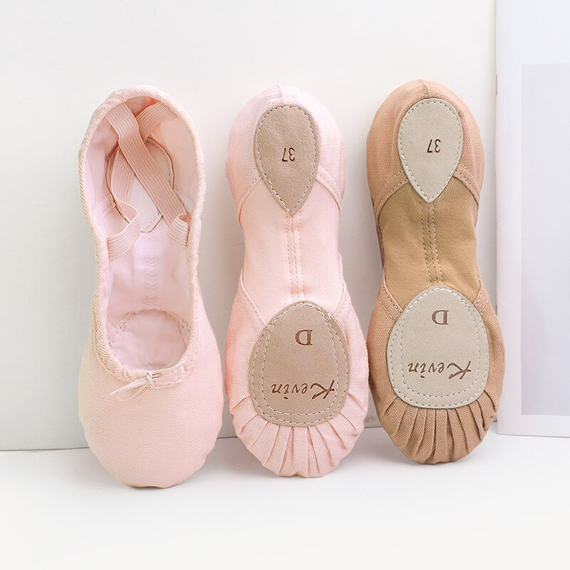 High Quality Women Ballet Dance Shoes Adult Professional Soft Practice Shoes Leather Sole Canvas Elastic Ballet Shoes For Women