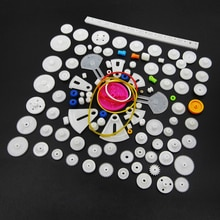 HAILANGNIAO Useful Mixed 85 Kinds of Plastic Gear Bag Science and Technology To Create Gear Rack Gea