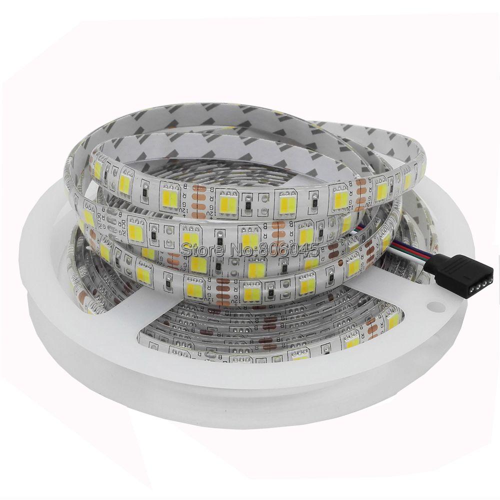 Tira de LED de 5m 12V de doble Color 5050/5025, cinta Flexible DC12V, CW/WW doble blanco en 1, tira CCT ajustable con temperatura de Color del Chip