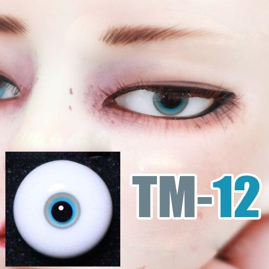 Doll eyes Small iris black Eye pupil glass eyes for 1/3 1/4 1/6 BJD SD DD MSD YOSD doll eyes doll accessories TM-12