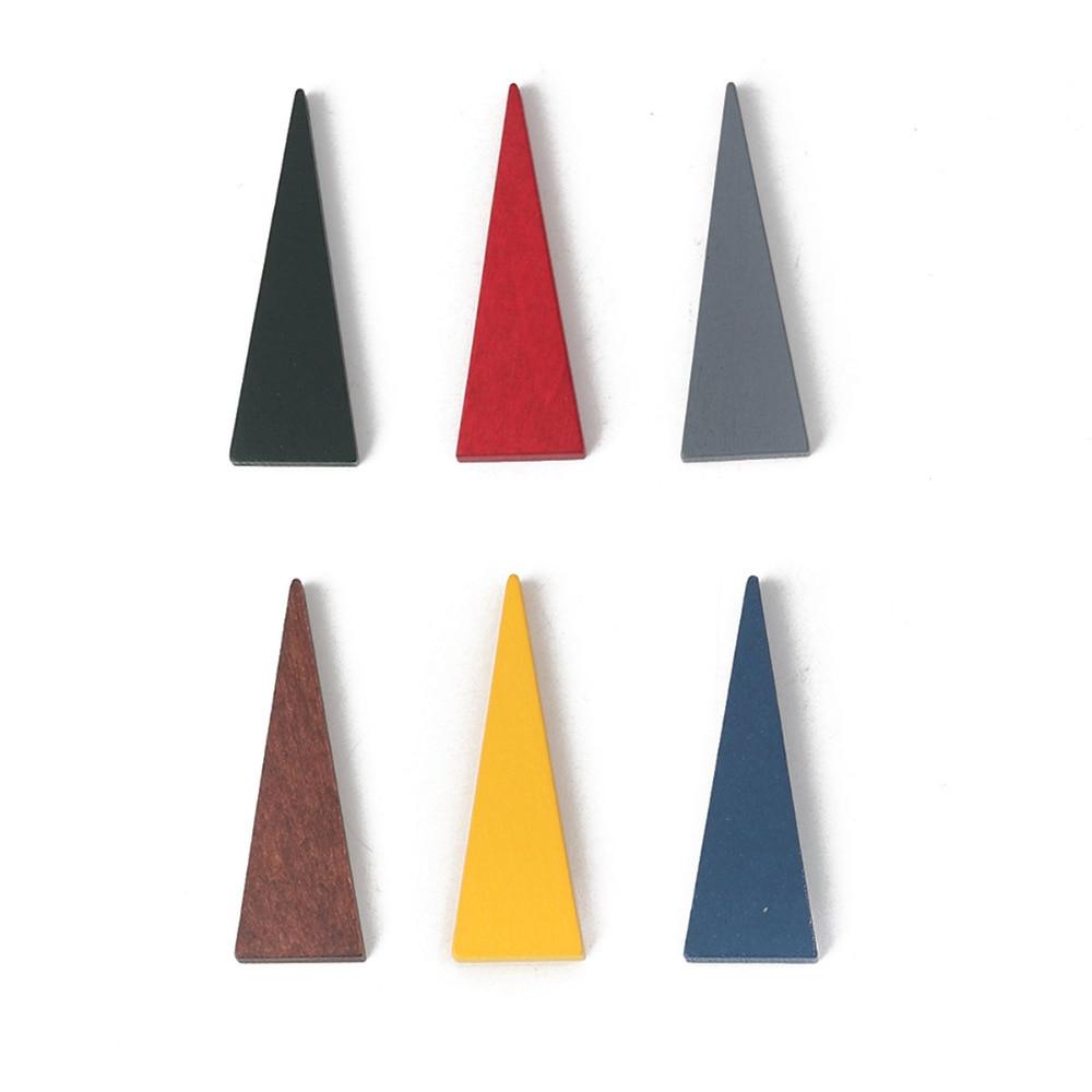 "Doreen Box New Fashion Wood Spacer Beads Geometric Triangle Beads Jewelry 41mm(1 5/8"") x 14mm( 4/8""), Hole: Approx 1.2mm, 30 PCs"