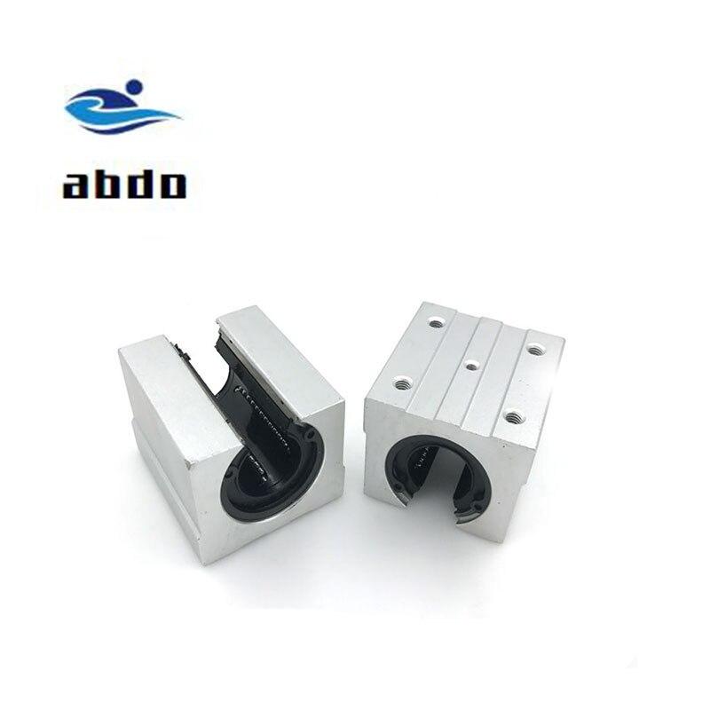Alta calidad 8 Uds SBR10UU bloque de aluminio 10mm Cojinete de bolas de movimiento lineal bloque deslizante partido uso SBR10 10mm carril de guía lineal