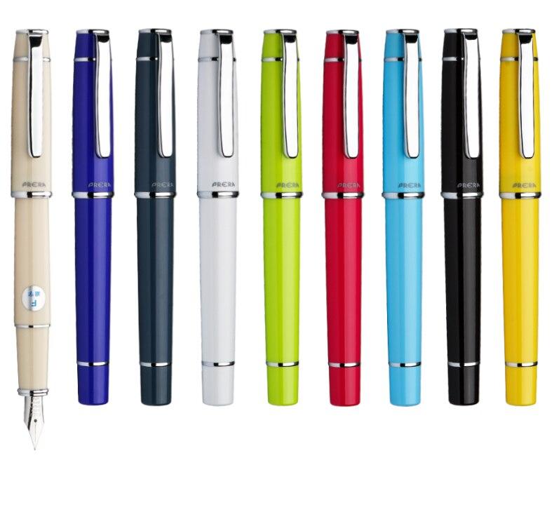 9 colores piloto Prera FPR-3SR pluma fuente F /M punta caligrafía pluma suministros de escritura la escuela y oficina pluma