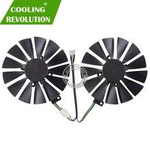 Вентилятор охлаждения для ASUS, 12 В, 0,25 ампер, 95 мм, VGA, для игровых 4PIN, RX470, RX570, RX580, GTX 1050Ti, GTX 1070 Ti, 13 лезвий