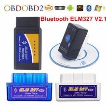 Super Mini ELM327 V2.1 Bluetooth OBD2 Auto Code Scanner ELM 327 V2.1 Voor Android Koppel/PC/Symbian OBD2 ELM327 Bluetooth