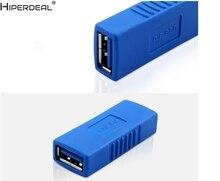 HIPERDEAL USB 3.0 Type A femelle à femelle adaptateur coupleur sexe changeur connecteur