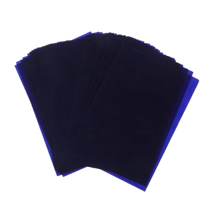 Plantilla de copiadora de carbono de doble cara 48K 50 hojas de papel de transferencia suministros de papelería material de oficina tipo estrecho suministros escolares de oficina