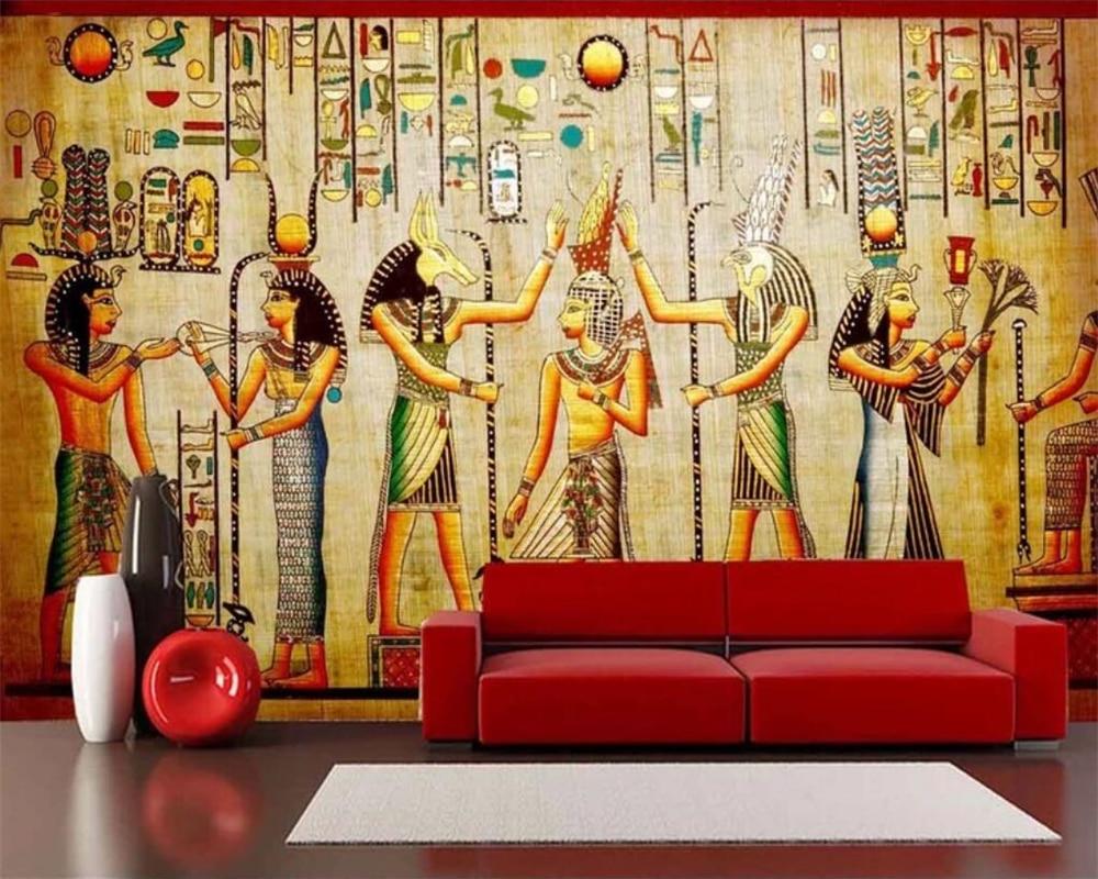 Beibehang-papier peint mural 3d personnalisé   Papier peint à la mode, célébration de legypte antique, salon classique, fond de télévision, mur mural