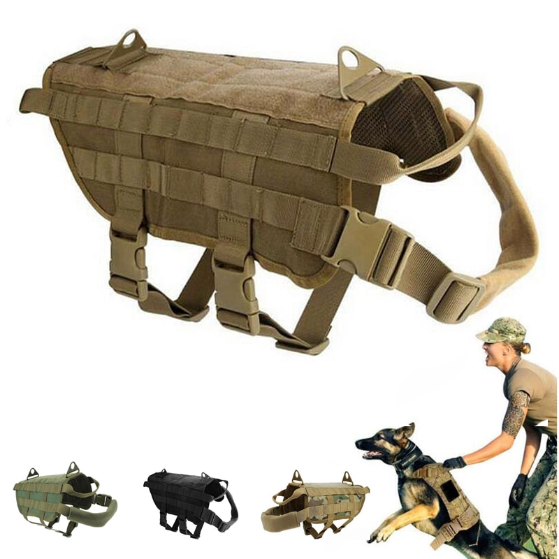 K9 Military Service Dog Traning Comabt Vest Molle Vest Waterproof Hunting Dot Clothes Police Dog Vest Harness