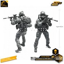Yufan Model 1/35 Figure Model Kit For US Seal Assault Team Resin Soldier Model Nai-23