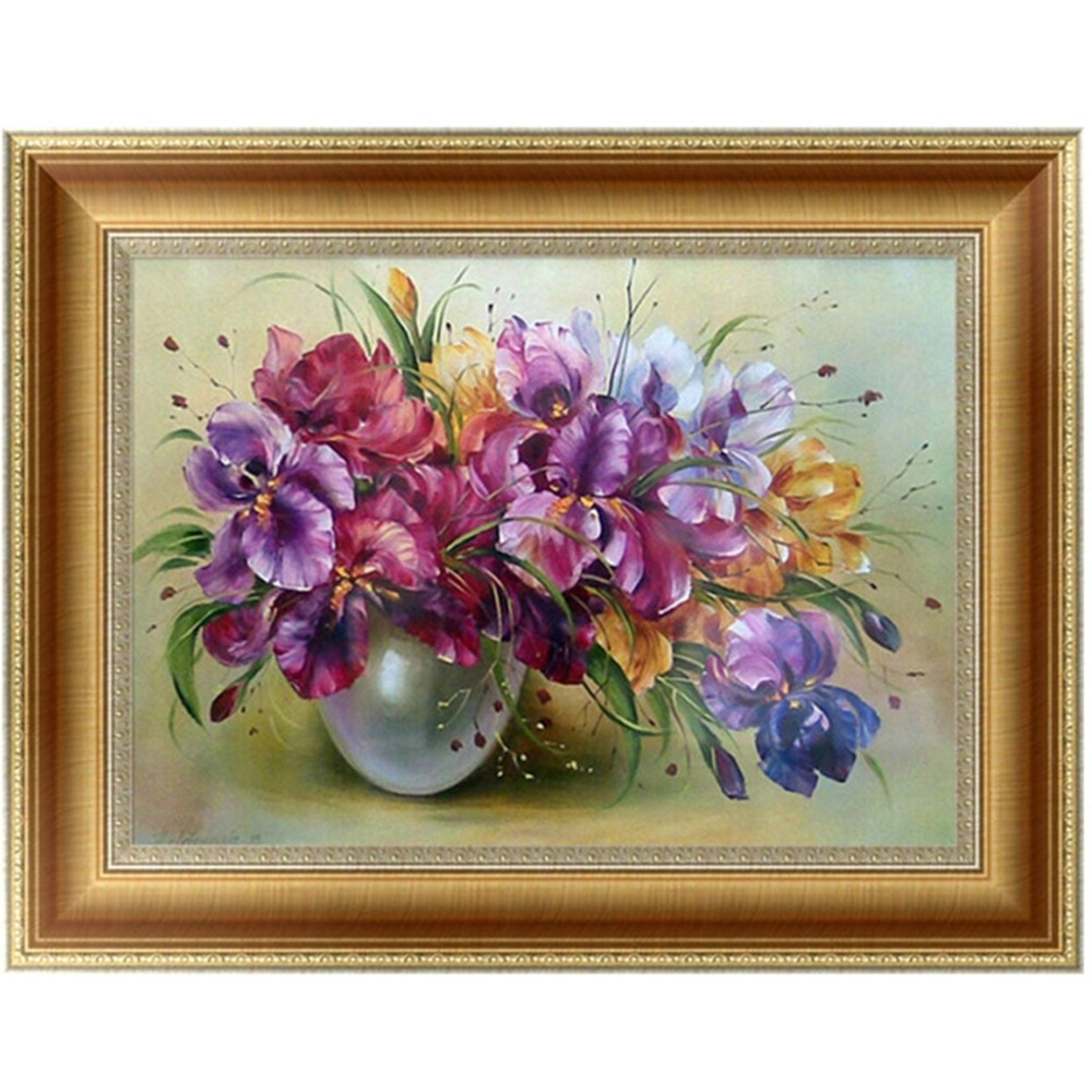 DIY 5D diamantes bordado flores diamante redondo pintura punto de cruz Kits mosaico decoración del hogar 30*40cm