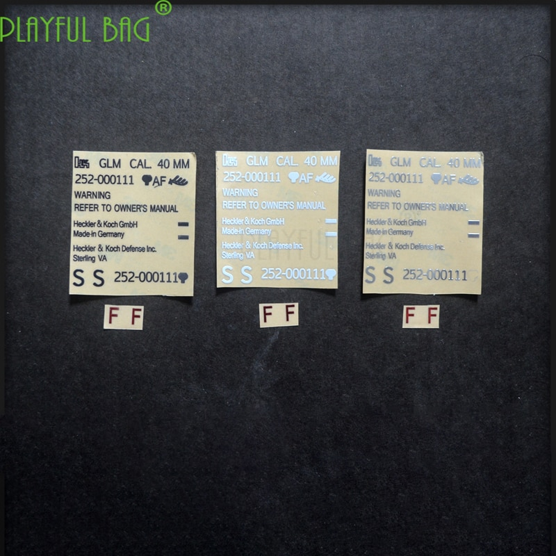 Pegatina de metal de bomba de agua M320 Jinming 8 generación M4 bajo el suministro de agua bullet SCAR new will 416 M4 g36 odd point L27
