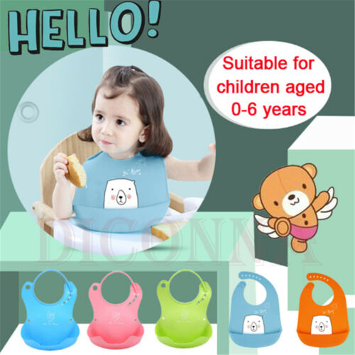 Ear Waterproof Cute Silicone Bibs for Babies Toddlers by Panda Soft Unisex Baby Bibs Baby Stuff