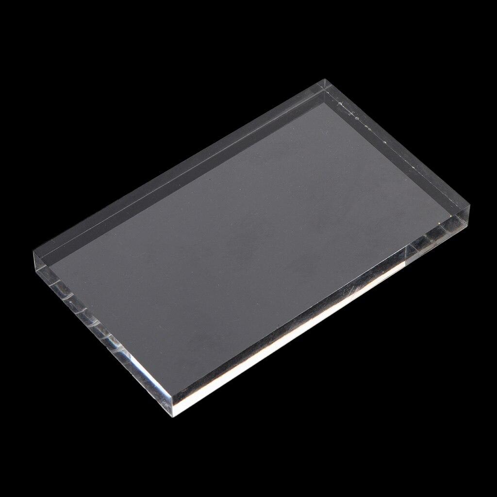 Bloques de sello de bloque de acrílico transparente, herramienta de Arte de colección de recortes de estampado 10x6cm