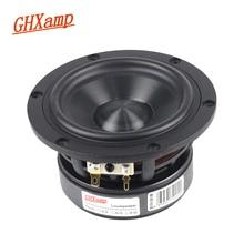GHXAMP Hifi 4 inch 50W Woofer Mediant Speaker Units Diamond Ceramic Bass LoudSpeaker Aluminum Frame ASV Voice Coil DIY 1PC