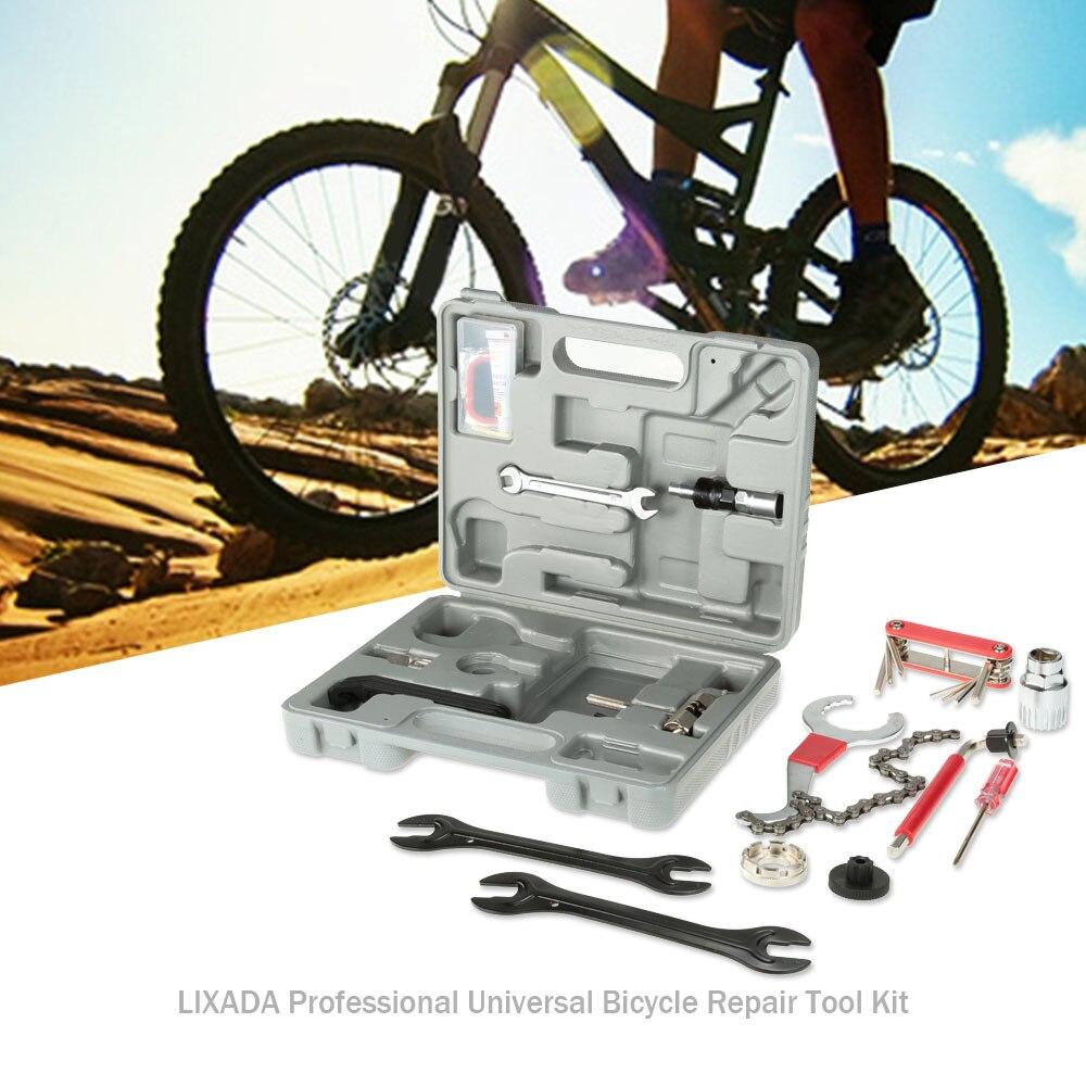 Lixada profesional Universal hogar exterior multifunción bicicleta Reparación de bicicletas Juego de Herramientas