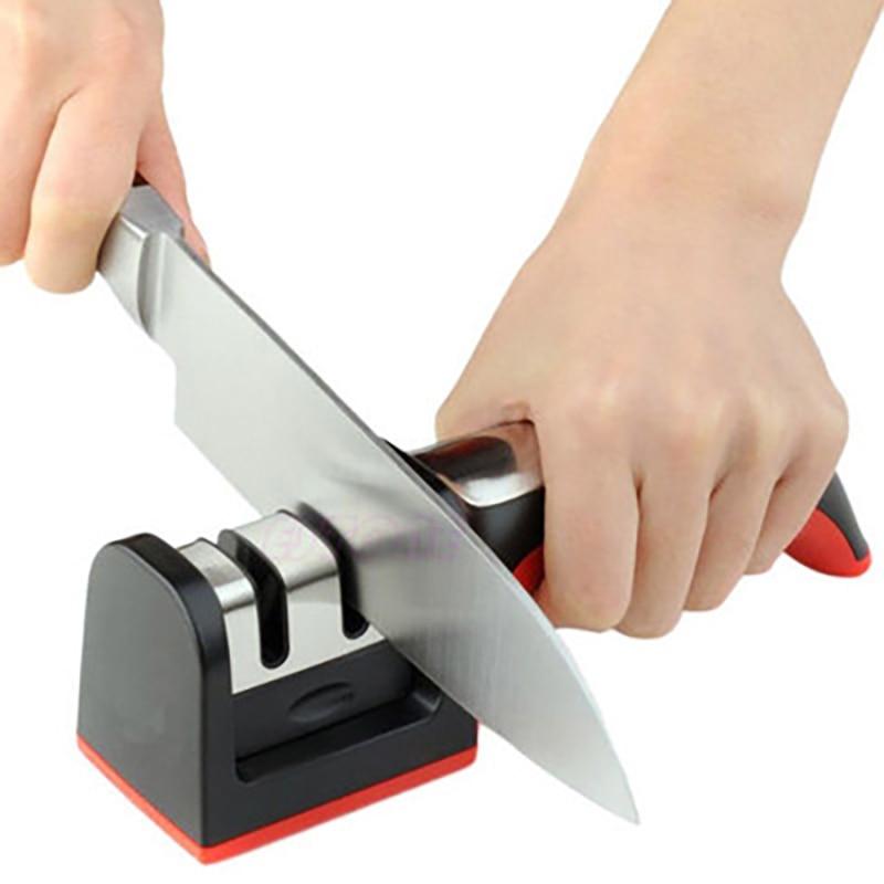 Professional Knife Sharpener 2 Stages Ceramic Diamond Sharpener Knife Sharpening Stone Grindstone Kitchen Tools