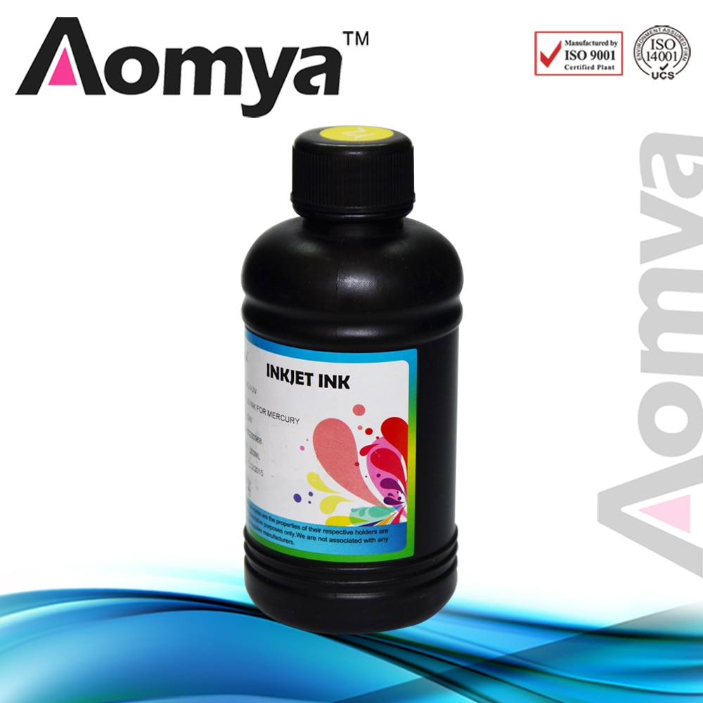 [Blanco de 250 ml] Aomya 3D impresora plana UV LED tinta en plástico cerámica PU ABS vidrio fonecase Compatible para Epson DX5 DX6 DX7