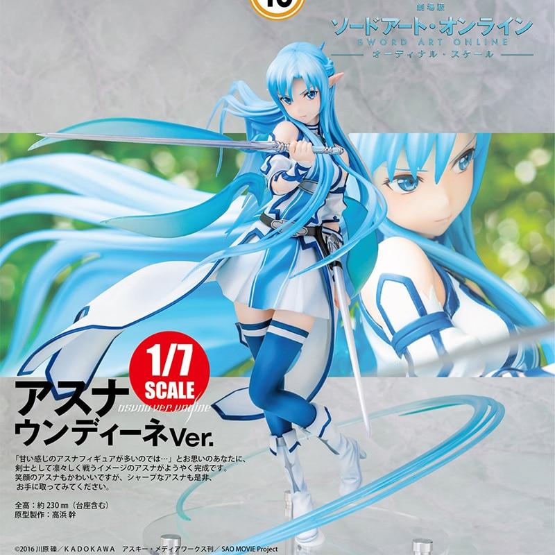 ¡Espada arte Online Ordinal Scale Asuna Undine Ver! Figura de acción de PVC Anime escala 1/7 chica Sexy Asuna figura Anime juguete de modelo de figura