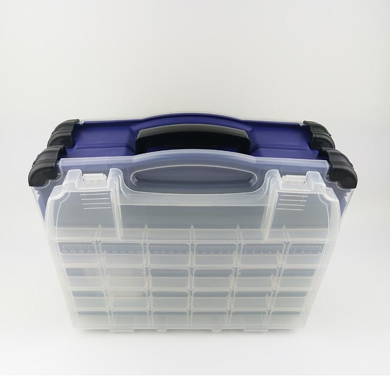 SHOU DIAO Multifunctional High Strength 42*20*35cm Transparent Visible Plastic Fishing Lure Box Fishing gear kit enlarge
