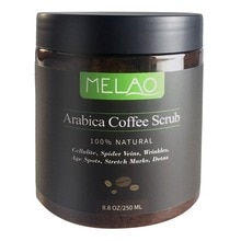 MELAO vücut fırçalama Arabica kahve fırçalama doğal hindistan cevizi yağı peeling beyazlatma nem selülit azaltmak cilt bakımı 250ml F