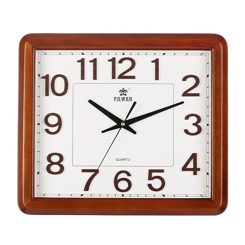 Reloj de oficina silencioso de madera maciza de 18 pulgadas de marca de energía