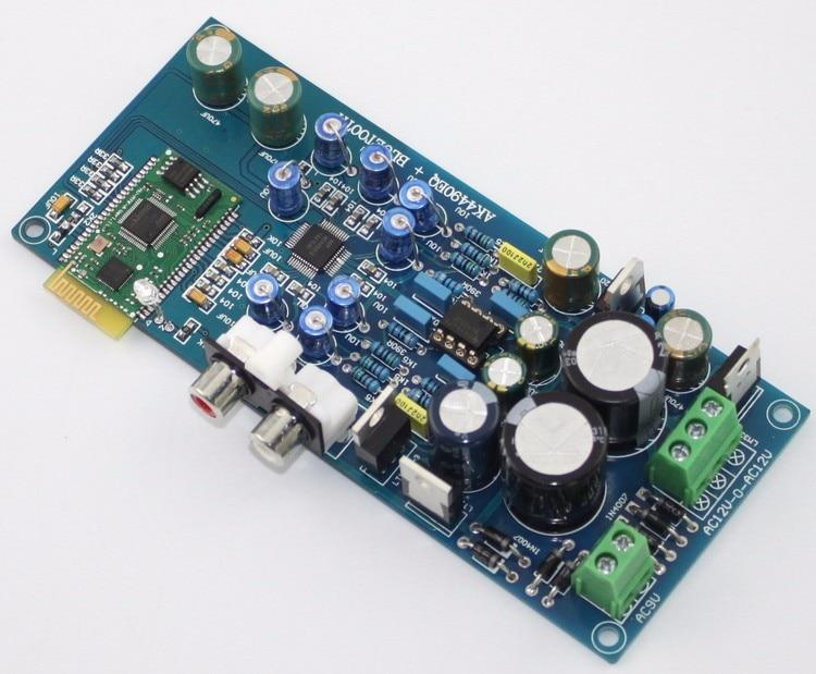 Bluetooth 4,0 AK4490 I2S de Audio decodificar Junta HIFI decodificador para equipos de AV LME49720